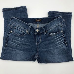 Seven7 Cropped blue jeans size 4